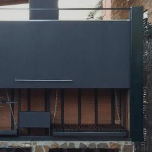 Barbacoas y hornos con puerta basculante